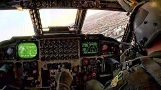 B-52 Bomber Landing • In-Flight Cockpit Video