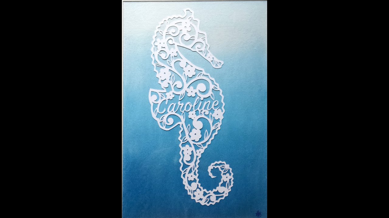 seahorse paper cut out art somebody elses guy jocelyn brown youtube