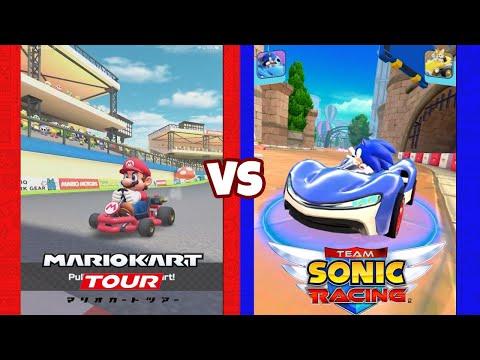 Sonic Racing VS Mario Kart Tour (60fps)