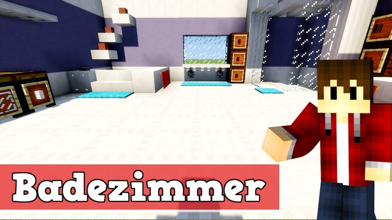 wie baut man ein modernes badezimmer in minecraft minecraft badezimmer bauen deutsch youtube. Black Bedroom Furniture Sets. Home Design Ideas