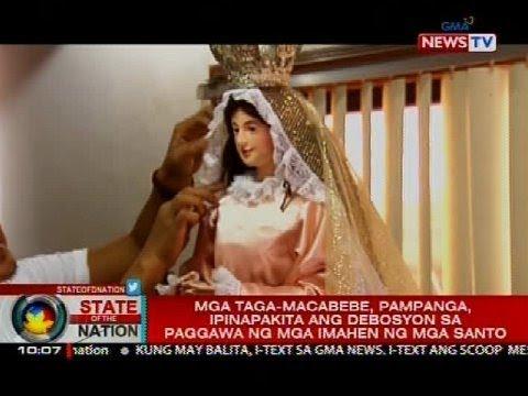 SONA:: Mga taga-Macabebe, Pampanga, ipinapakita ang debosyon sa paggawa ng mga imahen ng mga santo