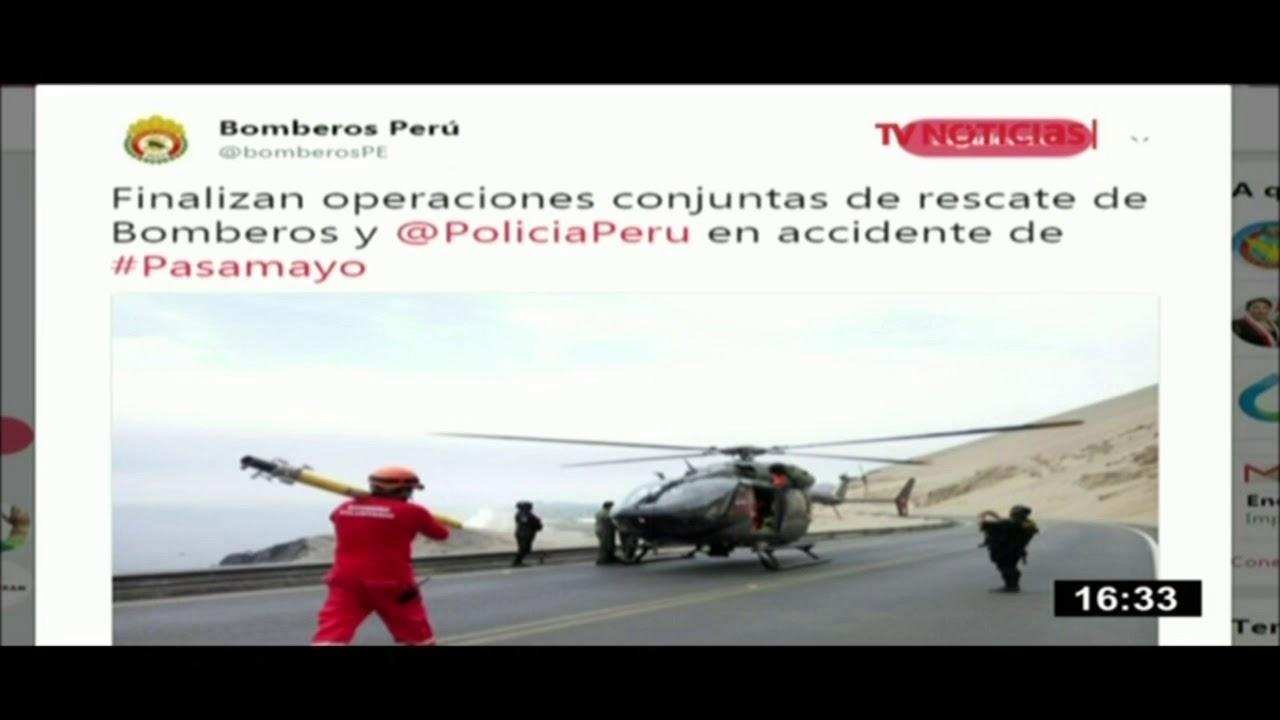 Policías y bomberos concluyen recuperación de cadáveres en Pasamayo ...