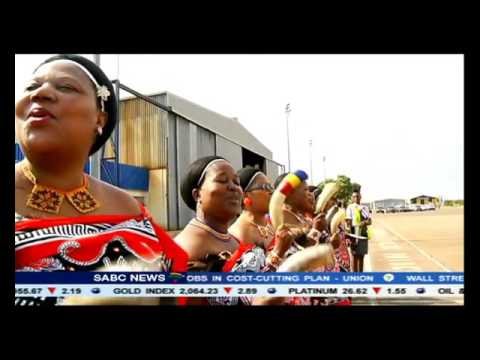 President Zuma in Swaziland as part of the SACU countries visit