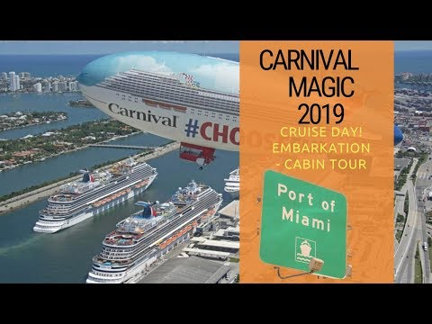 Carnival Magic | 2019 | Embarkation | Cabin Tour | Happy Hour