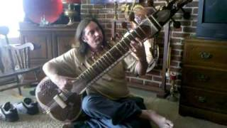 Uncle Chris playing the surbahar