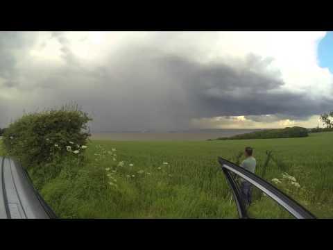 Lincolnshire Storm - Torrential rain, large hail, lightning - UKWF Lewis