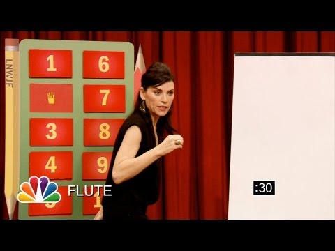 Pictionary with Julianna Margulies and Jimmy Fallon Part 1 Late Night with Jimmy Fallon