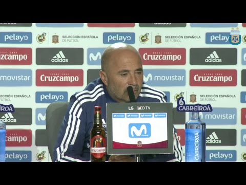 Conferencia de prensa: Jorge Sampaoli - DT. Selección Argentina