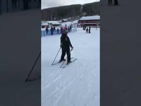 @ Kungsberget Stockholm Sweden first time to ski 🤪🎿⛷