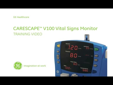 GE Carescape V100 Vital Signs Monitor Training Video