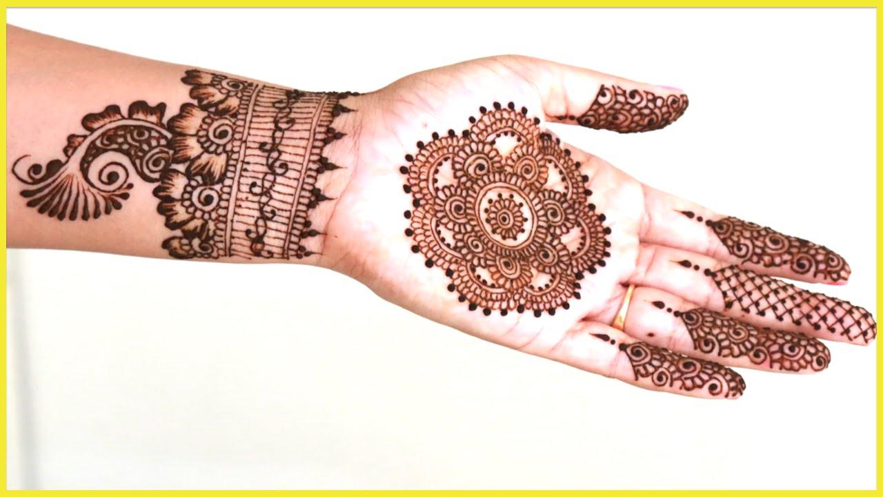 Unique hennamehndi tutorial using filler designs youtube baditri Images