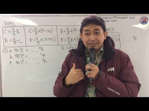 Fisika Suhu konversi suhu  (Ujian Nasional)