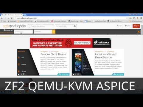 Zenfone 2 Qemu-KVM kernel running Windows, rendered with aSpice