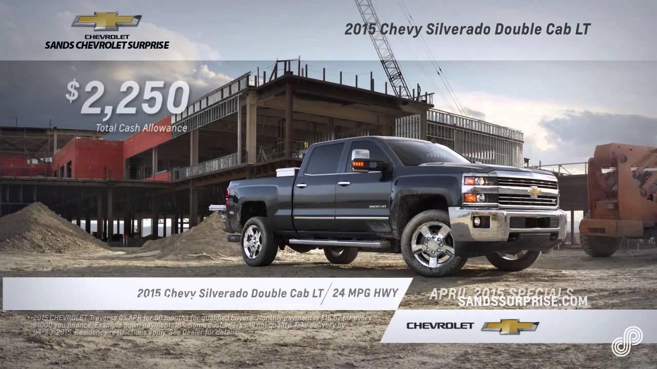 2015 chevy silverado offer sp sands chevrolet surprise 4 15 youtube. Cars Review. Best American Auto & Cars Review