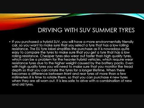 Driving with SUV summer tyres