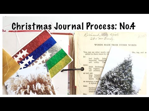 Mini Christmas Album: Holiday Junk Journal With Me Part 4:  Unique Scrapbook