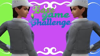 BASE-GAME CHALLENGE????‍♀️| SIMS 4 | CREATE A SIM / Видео