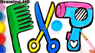 #DrawingHD #Colouring #Drawing Hair Accessorise Drawing and Colouring for kids