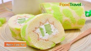 เมลอนเค้กโรล Melon Cake Roll