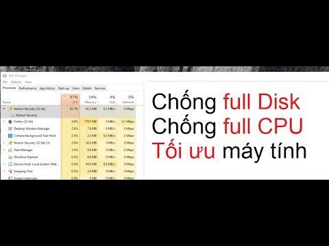 [TOPICA TOC – DVKT] Tối ưu máy tính, chống Full Disk (100% Disk) trên windows 8, windows 10