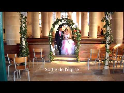 sortie de l'église mariage
