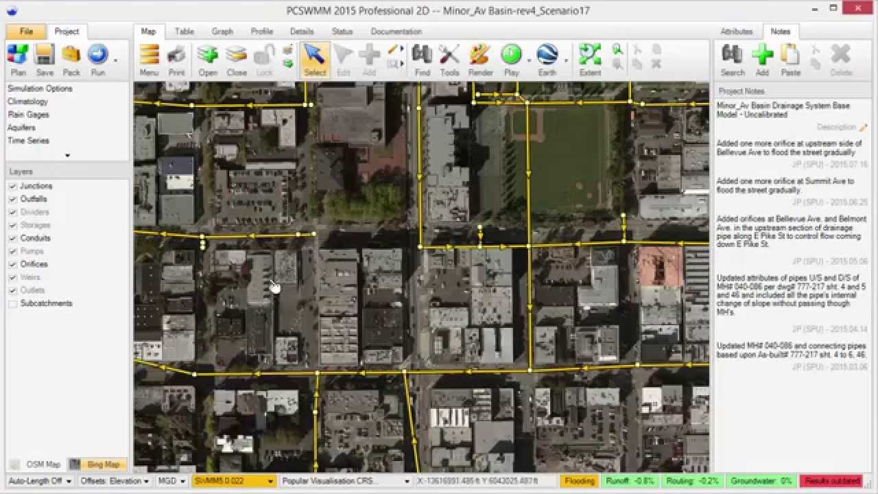 whats new in pcswmm 60 bing maps