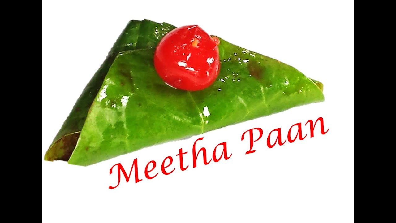 How To Make Meetha Paan Sweet Betal Leaves By