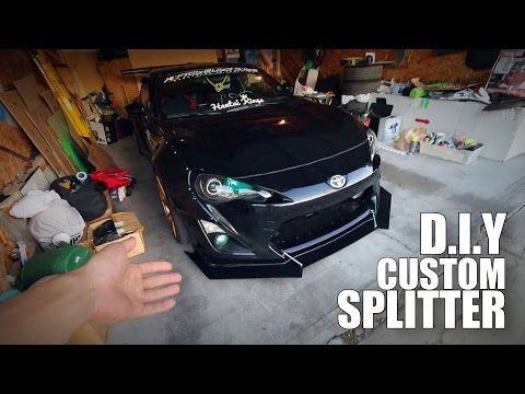 How to Make your own Custom Aggressive Front Splitter FRS GT86 BRZ