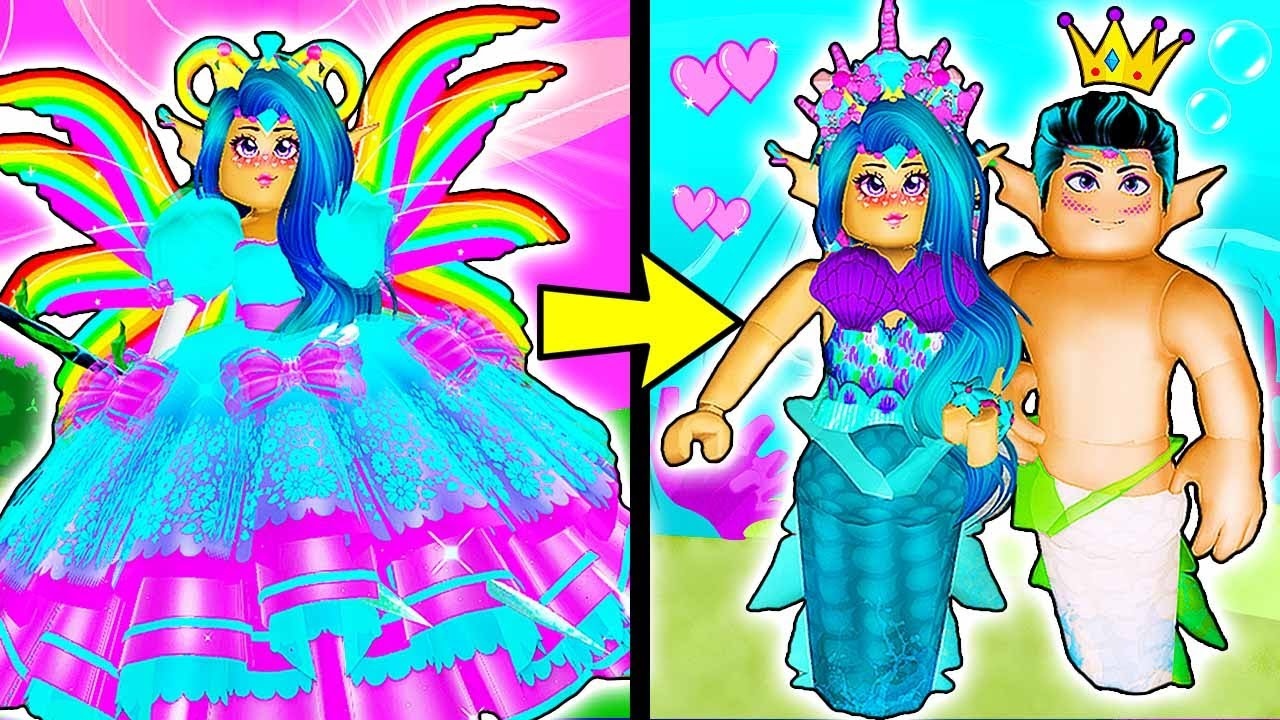 Youtube Roblox Royal High Mermaid Princess To Mermaid Love Story Royale High School Roblox Roleplay Love Story Youtube