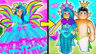 PRINCESS TO MERMAID LOVE STORY 🧜 ♀️💗 Royale High School (fr) Roblox Roleplay Histoire d'amour