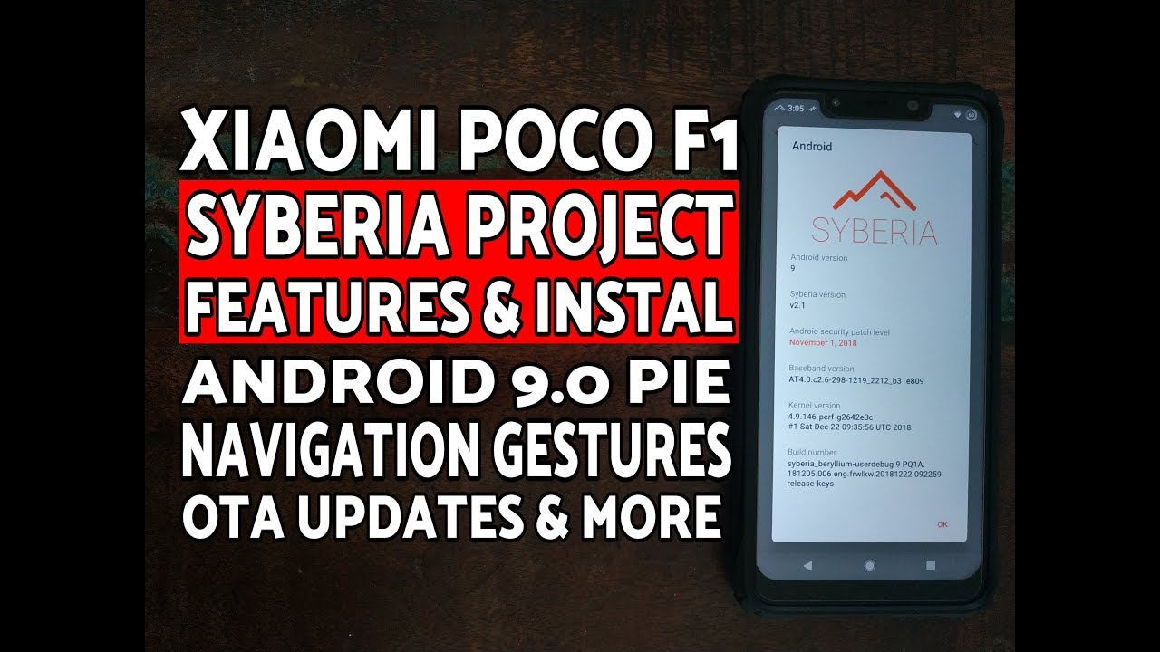Xiaomi Poco F1 Syberia Project Features & Instal