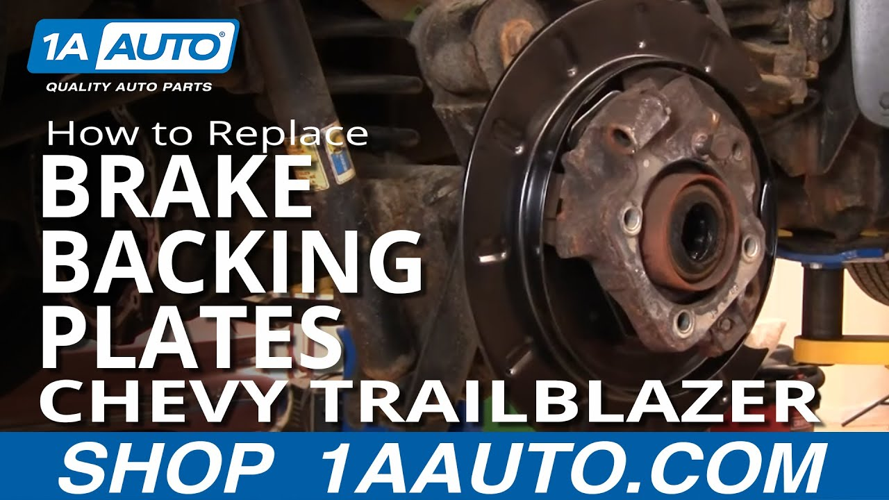 hight resolution of how to replace rear brake backing plates 02 09 chevy trailblazer diagrams how to replace rear backing plates on 2003 dodge durango