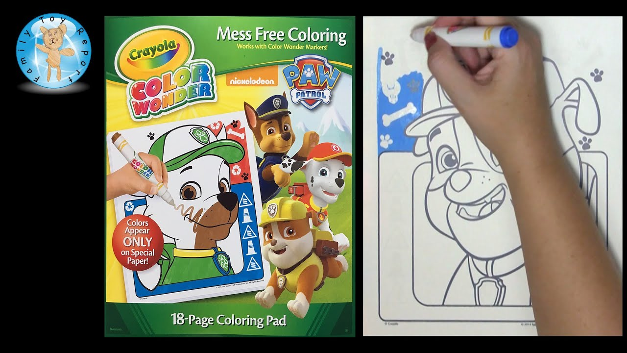 Crayola Color Wonder Paw Patrol Coloring Book Speed Coloring ...