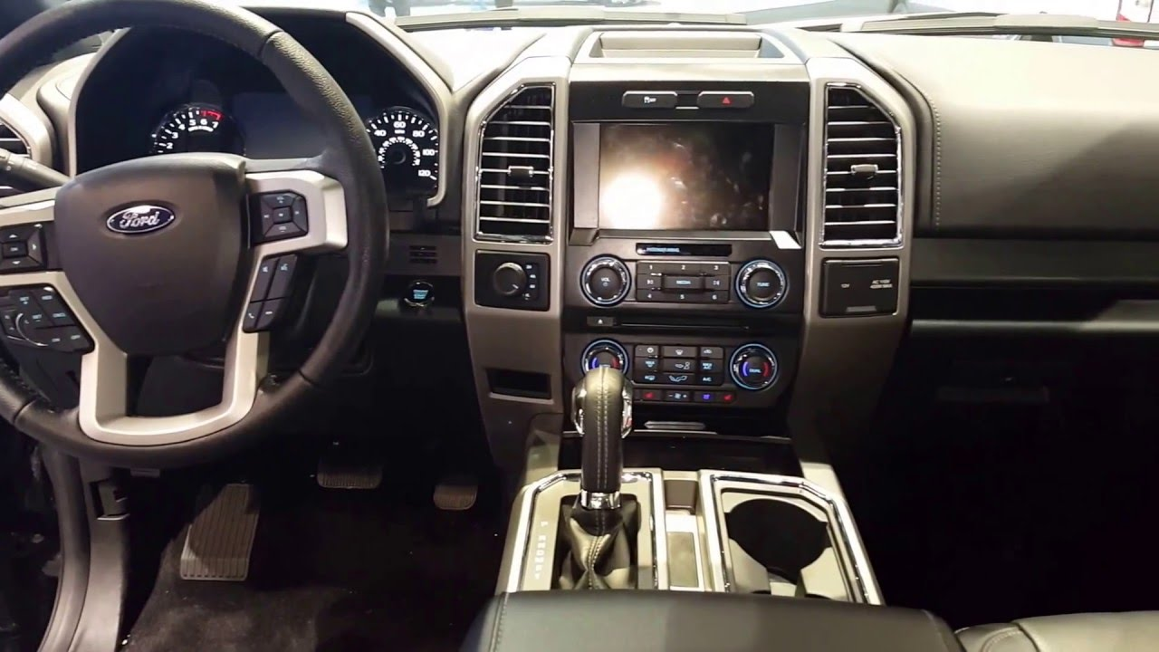 Ford F  Lariat Interior Walkaround Price  Chicago Auto Show Youtube