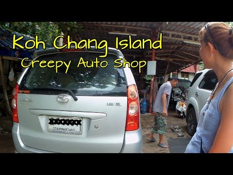 Creepy auto repair shop on koh chang Island