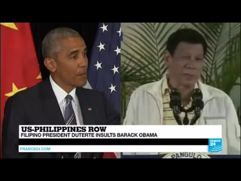 "Philippines: Filipino president Duterte insults Barack Obama, calling him a ""son of a whore"""