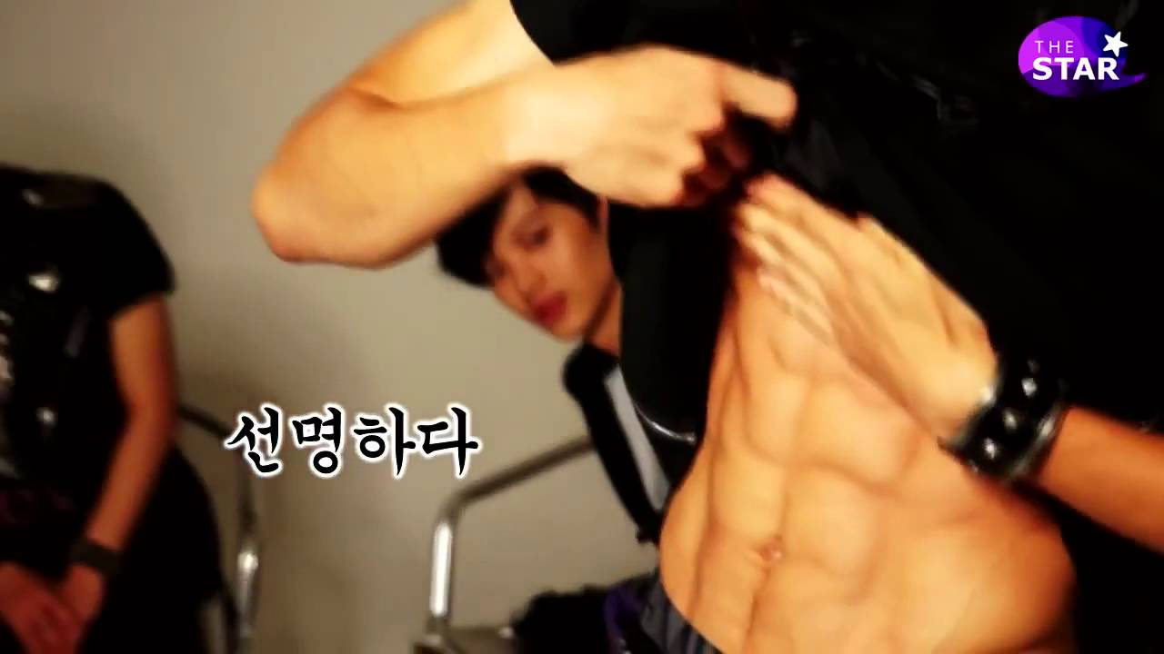 Minhyuk (BTOB) _ ABS SHIRTLESS - YouTube