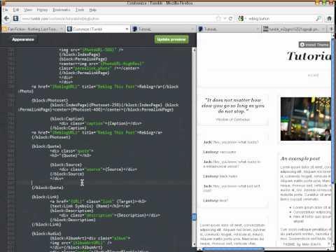 Tumblr Tutorial : How to add extra Reblog button on Tumblr Blog