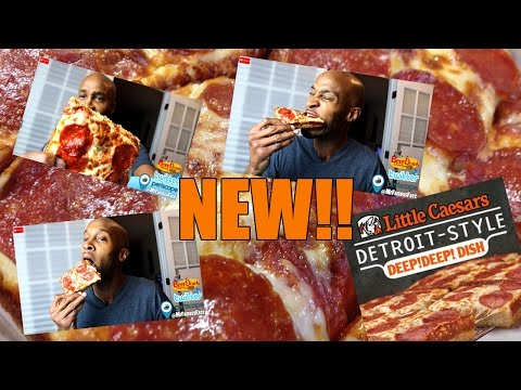 "(NEW) Little Caesars ""Detroit Style"" Deep Deep DisH PizZa Review"