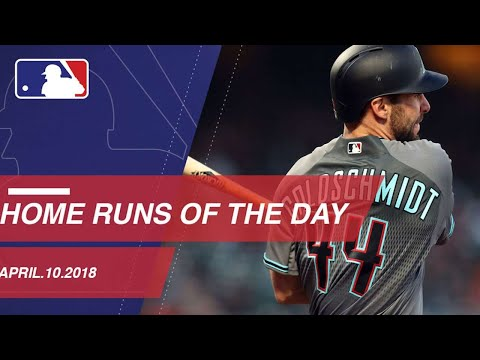 Watch all the home runs from April 10, 2018
