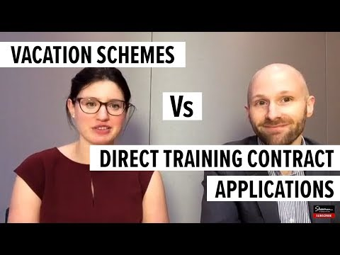 Vacation Schemes vs Direct Training Contract Applications