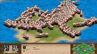 Age of Empires 2 with 1000 population