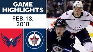 NHL Game Highlights | Capitals vs. Jets - Feb. 13, 2018