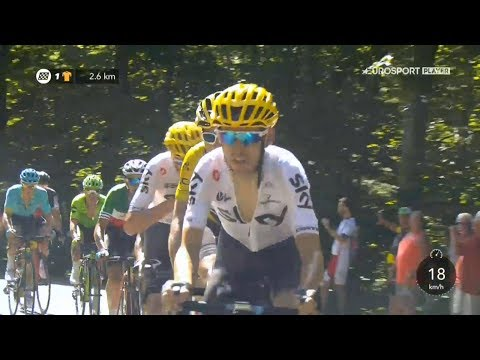 Tour de France 2017. Stage 5. Since the 77th km, to the finish. Victory ceremony.
