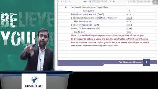 Capital Gains Revision CA Final | For Nov'19| BB Sir