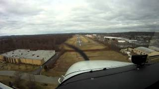 Flight over Northern New Jersey and landing at Essex County Airport.