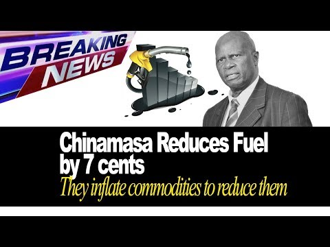Breaking News, Chinamasa Reduces Fuel Price by 7 cents, They inflate prices to reduce them?