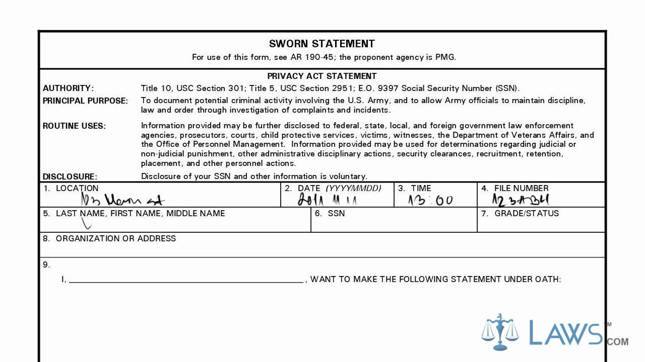 Learn how to fill the da form 2823 sworn statement youtube thecheapjerseys Image collections
