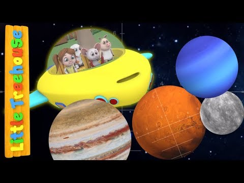 The Solar System Song | Cartoon Videos for Children | Learning Videos by Little Treehouse