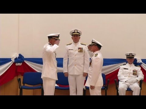 U.S. Naval Hospital Naples, Italy Holds Change of Command Ceremony